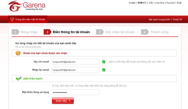 Bạn cần mở hộp thư lên,tìm email được gửi từ địa chỉ noreply@garena.com(bạn  có thể tìm cả ở phần spam nếu ...