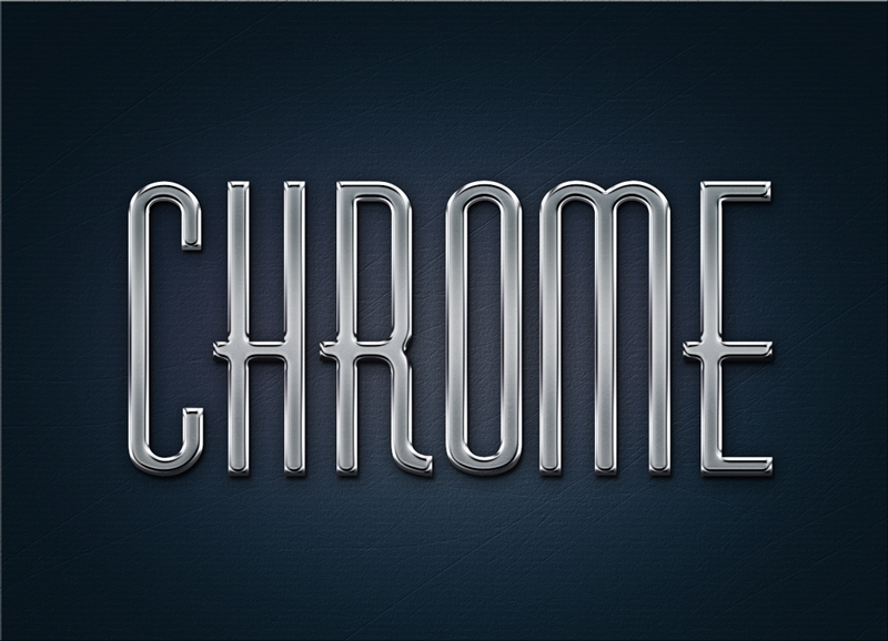 metal chrome effect